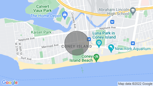 Coney Island Private * 1  BR,  Full Bath, Kitchen Wi Fi  Cable TV Linens & Towel Map