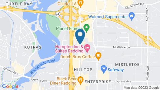 Oxford Suites Redding Map