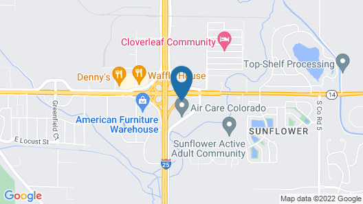 Americas Best Value Inn & Suites Ft. Collins E at I-25 Map