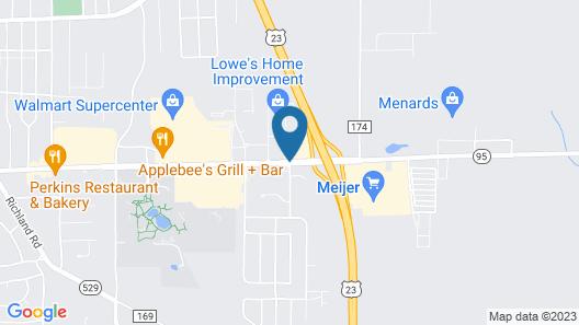 Americas Best Value Inn Marion, OH Map