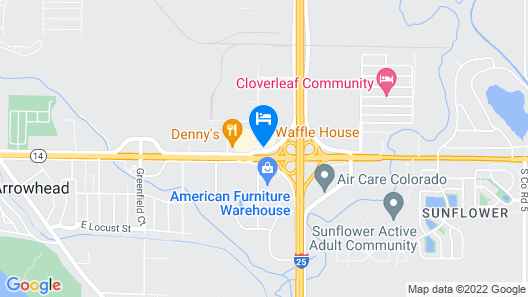 Motel 6 Fort Collins, CO Map