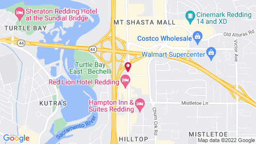 Motel 6 Redding, CA - Central Map
