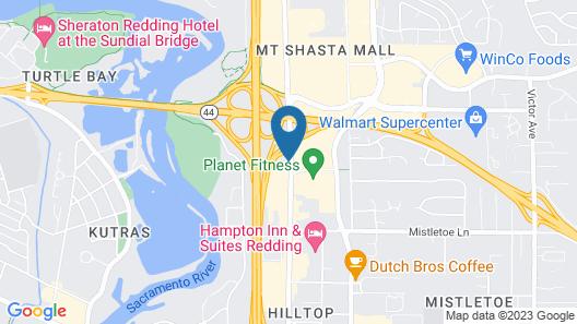 Motel 6 Redding, CA - Central Map