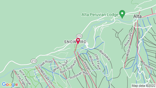 The Cliff Lodge and Spa Map
