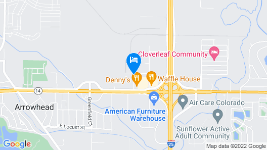 Super 8 by Wyndham Fort Collins Map