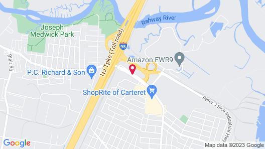 Red Roof Inn PLUS+ Woodbridge - Linden/ Carteret Map