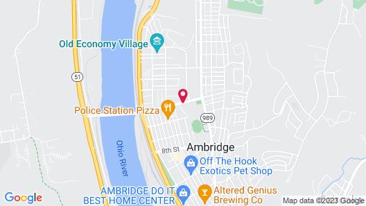 Cobblestone Inn & Suites - Ambridge Map