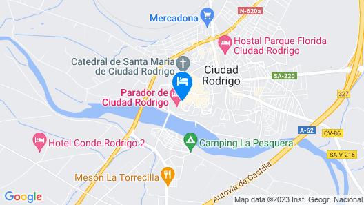 Parador de Ciudad Rodrigo Map
