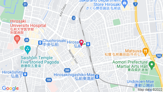Hotel Route-Inn Hirosaki Ekimae Map