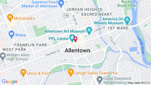 Renaissance Allentown Hotel Map