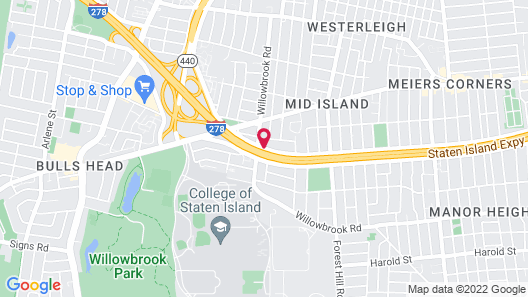 Ramada by Wyndham Staten Island Map