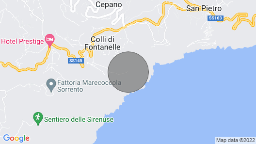 Villa Belvedere delle Sirene. Jacuzzi, Garden, Incredible Sea Views Map