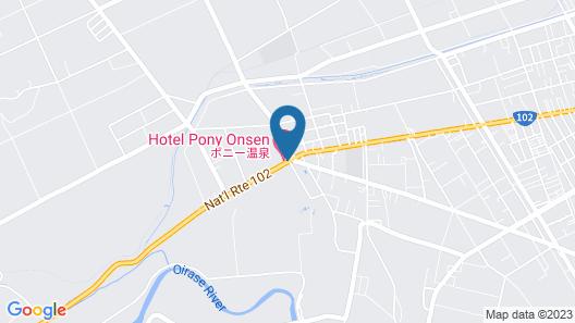 Hotel Pony Onsen Map