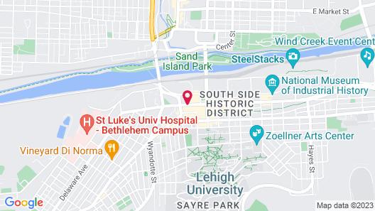 Comfort Suites Bethlehem Near Lehigh University and LVI Airport Map