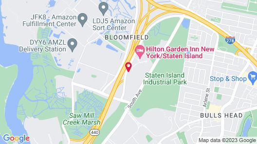 Hampton Inn & Suites Staten Island Map