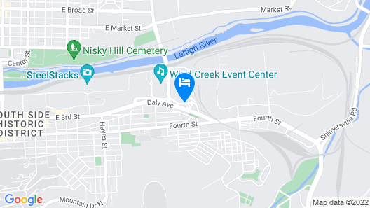 Wind Creek Bethlehem Map