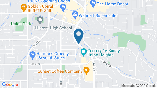 Extended Stay America Suites Salt Lake City Union Park Map