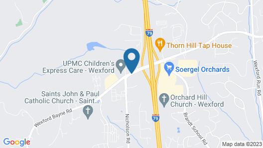 Hampton Inn Pittsburgh / Wexford-Sewickley Map