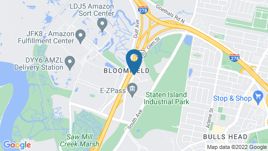 Hilton Garden Inn New York / Staten Island Map