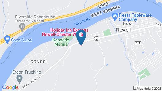 Holiday Inn Exp Chester WV, an IHG Hotel Map