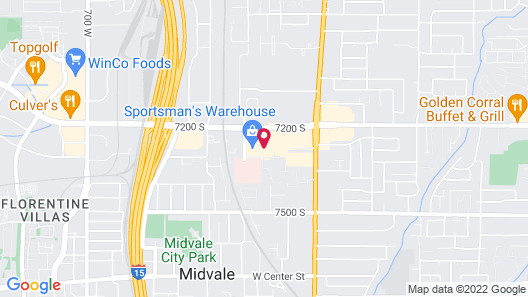 InTown Suites Extended Stay Salt Lake City UT - Midvale Map