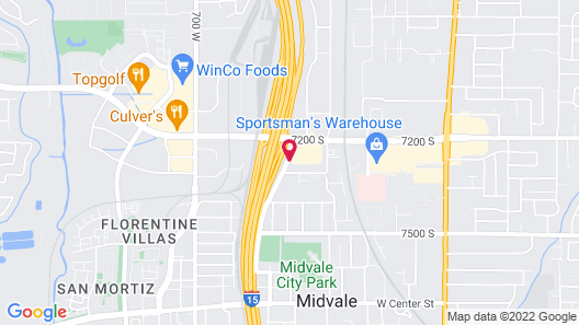 Motel 6 Midvale, UT - Salt Lake City South Map