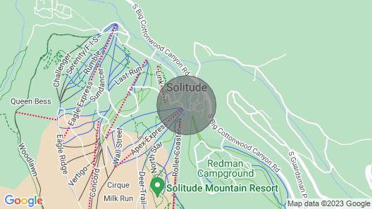 Ski-In/Ski-Out Solitude Condo w/ Rooftop Hot Tub! Map
