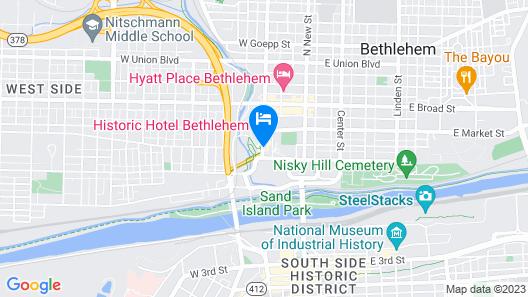 Hotel Bethlehem, A Historic Hotel of America Map