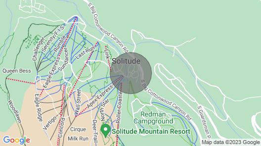 Solitude Mountain Slopeside Ski Condo w/ Hot Tub! Map