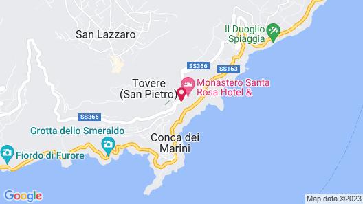 Monastero Santa Rosa Hotel & Spa Map