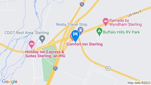 Comfort Inn Sterling Map