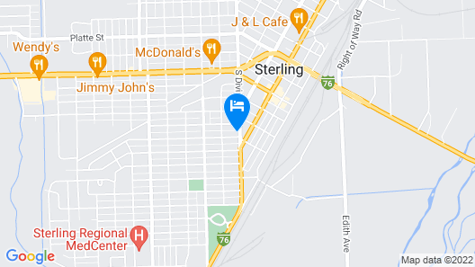 The Crest Motel in Colorful Colorado Map