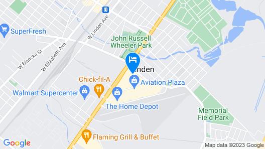 Hampton Inn Linden Map
