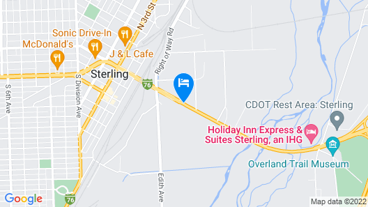 Holiday Inn Express & Suites Sterling, an IHG Hotel Map