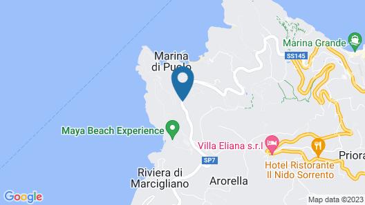 Hotel Villa Pina Antico Francischiello Map