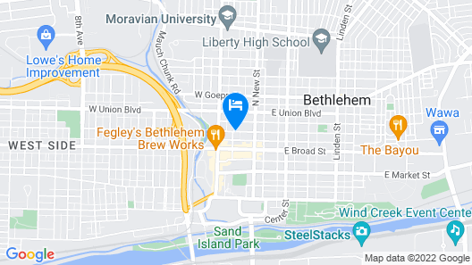 Hyatt Place Bethlehem Map