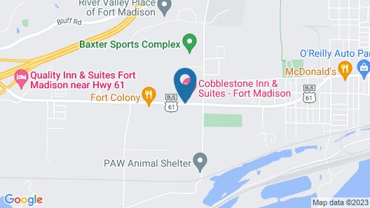 Cobblestone Inn & Suites - Fort Madison Map
