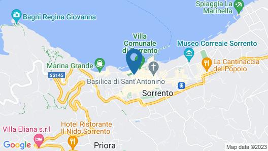 Grand Hotel La Favorita Map