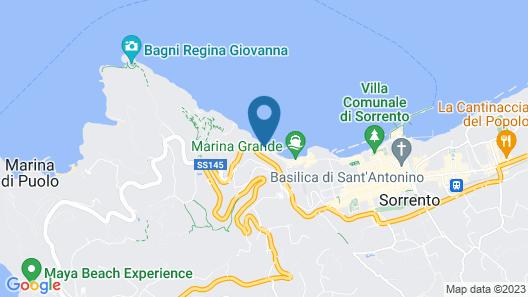 Beachfront Villa with Pool & Sea Access Map