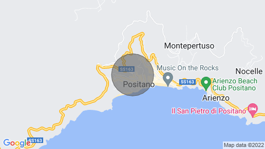 Blue SEA Villa Positano Map