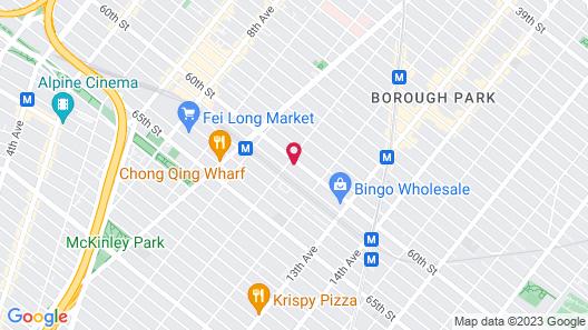 Umbrella Hotel Brooklyn Map