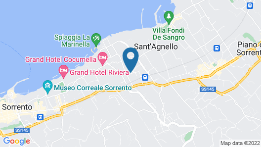 Unconventional Hotel Sorrento  Map