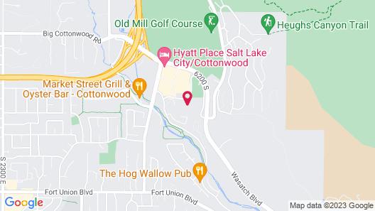 Hampton Inn Salt Lake City Cottonwood UT Map