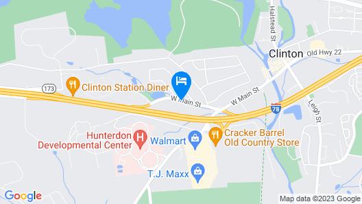 Holiday Inn Clinton, an IHG Hotel Map