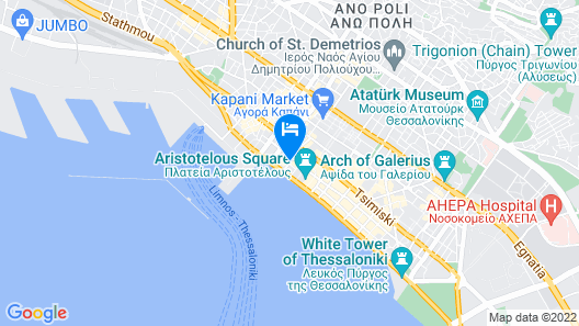 Andromeda Hotel Thessaloniki Map