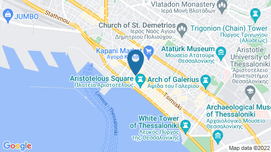 City Hotel Thessaloniki Map