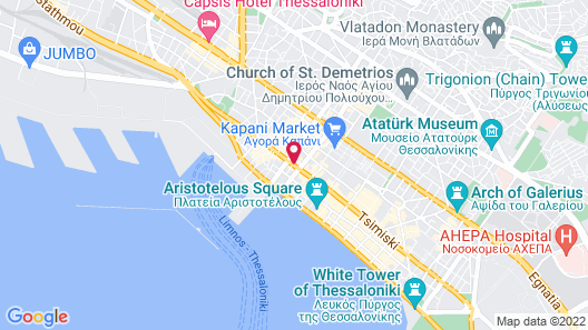 Colors Urban Hotel Thessaloniki Map