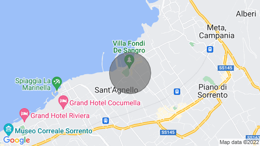 Sant'agnello Villa, Sleeps 13 With Air Con and Wifi Map