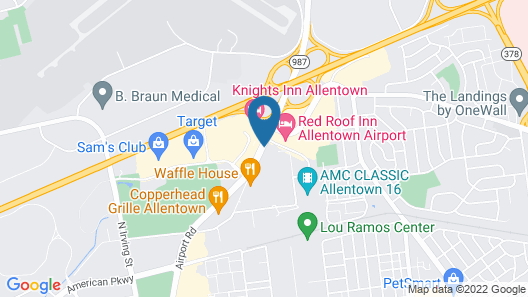 Staybridge Suites Allentown Bethlehem Airport, an IHG Hotel Map