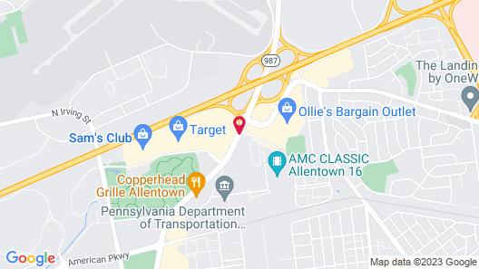 Hilton Garden Inn Allentown Bethlehem Airport Map